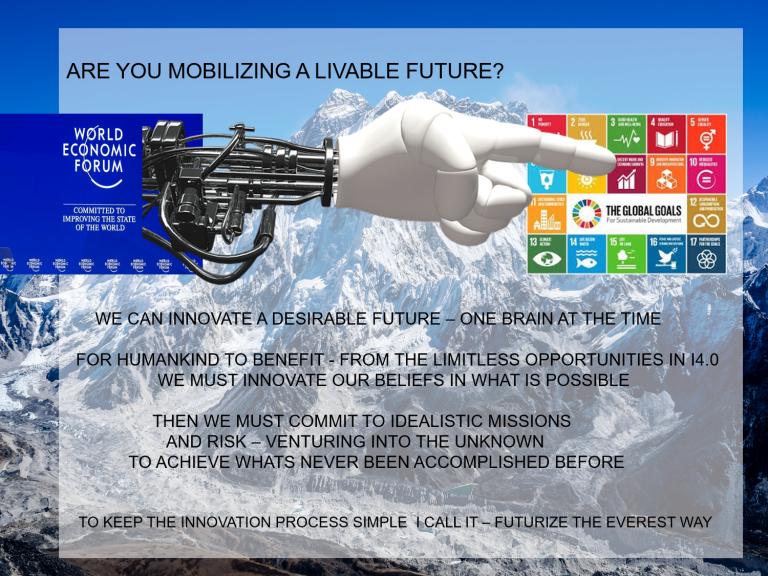 Foredrag om de 17 verdensmål som fremtidsstrategi for at opnå det der aldrig tidligere har været muligt